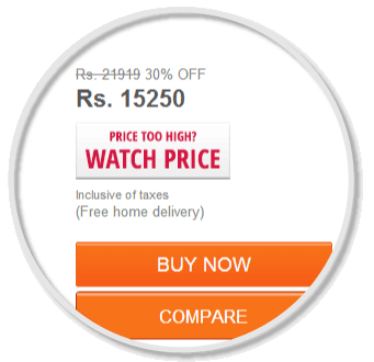 Look out for the Price Watch Button added by Compare Hatke Extension.